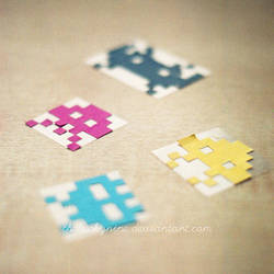 cmyk invaders by theluckynine