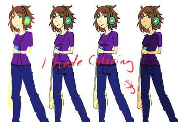 I hate coloring by neko-sora-daycare