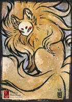 Fluffy Gold [ACEO] by TeaKitsune