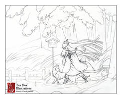 Blustery (Sketch) by TeaKitsune