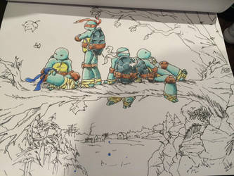 WIP Ninja Turtles in Northampton (Ross Campbell) by TRANFDQ