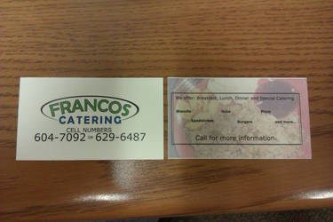 Francos Business Cards by cjlproductions
