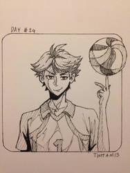 Inktober day #24: Oikawa Tooru by TimTam13