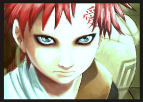 yet another Gaara by nocturnalMoTH