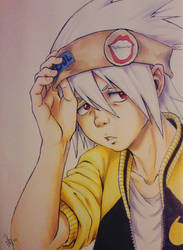 copic drawing - Soul Eater by nocturnalMoTH