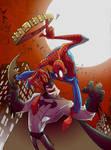 Batman vs Spiderman by marespro13