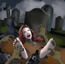 Tickling-Halloween Tickle by EyeDraw78