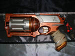 Steampunk painted Nerf gun - Maverick (Left side) by TtheD