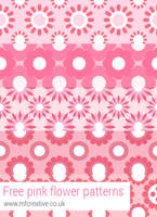Free pink flower patterns for Photoshop by mfcreative