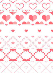 Free heart Photoshop patterns by mfcreative