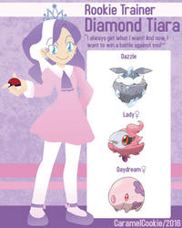My Little Rookie Pokemon Trainer - Diamond Tiara by CaramelCookie