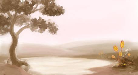 Landscape lake by Mzag