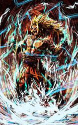 SSJ3 Goku by Mzag