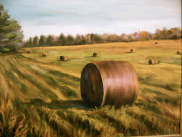 Hay Stacks by Wulff-Arts