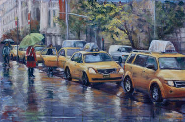 Taxis Waiting by Wulff-Arts