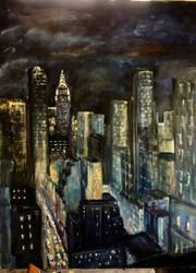 NYC AT NIGHT by Wulff-Arts
