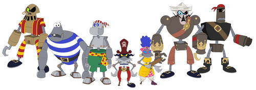 The Robo-Pirate Army by BlackRobtheRuthless