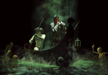 Crossing the lake of the dead by Chanteur-de-Vent