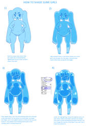 How To Shade Slime Girls by Cakehoarder