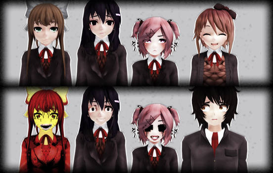 [ MMD Doki Doki Literature Club ] Group Pack DL+ by GameME6
