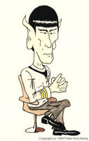 Spock caricature by peterhirschberg