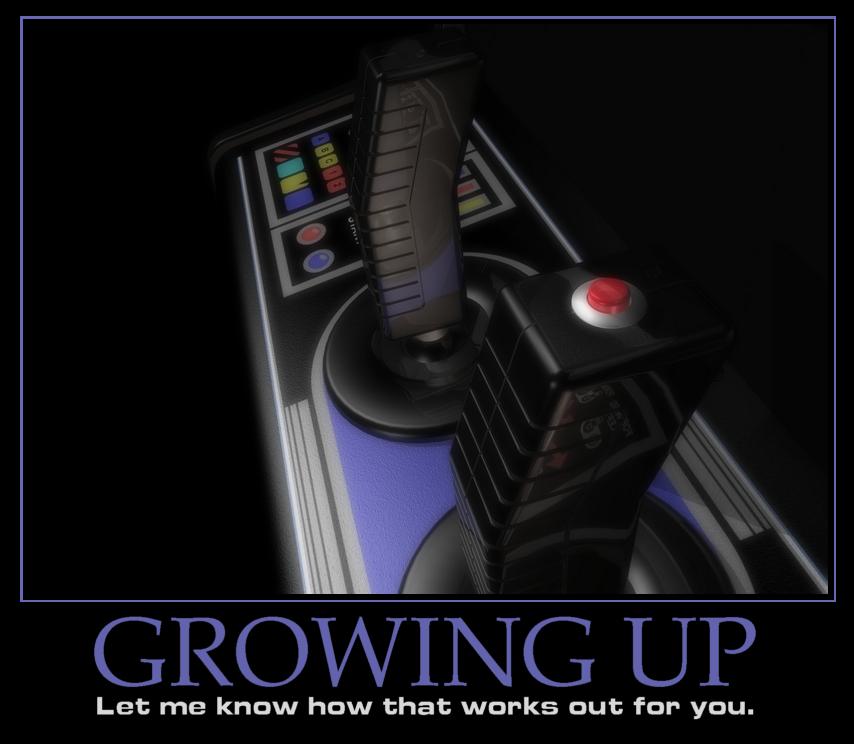 Motivational Poster - 'Growing Up' by peterhirschberg