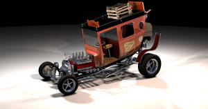 Tijuana Taxi rendering by peterhirschberg