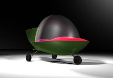 Jetsons Commuter Car by peterhirschberg