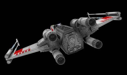 X-Wing 04 (Wings Closed) by peterhirschberg
