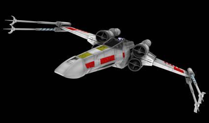 X-Wing 03 (Wings Closed) by peterhirschberg