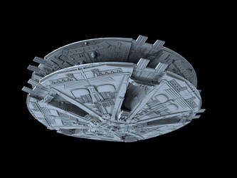Cylon Basestar 03 by peterhirschberg