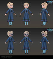 Elsa Child - Low poly model for Frozen Free Fall by Shaka-zl