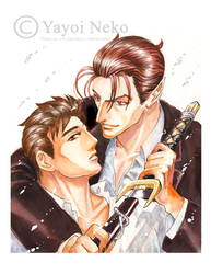 J and L watercolor by Thundertori