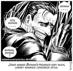 Joker Missed Batman by Thundertori