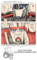 Optimus returns to base by Thundertori