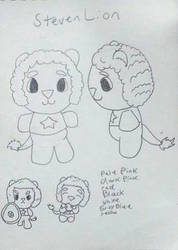 Crystal Villagers design concept: Steven by Sabretooth-Fox