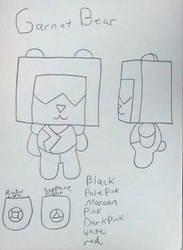Crystal Villagers design concept: Garnet  by Sabretooth-Fox