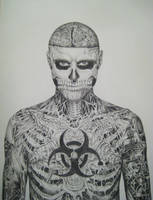 Rick Genest (body) by famedcreation