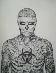 Rick Genest (body) by famedcreation