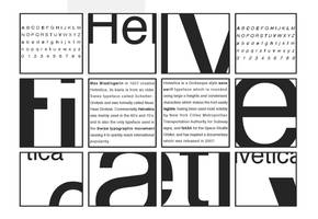 Typography Helvetica Poster by myst49