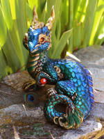 Burmese Green Peacock Dragon by The-SixthLeafClover