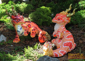 Reverse Okeetee and Corn Snake dragons by The-SixthLeafClover