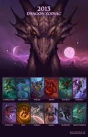 2013 Dragon Zodiac Calendar by The-SixthLeafClover