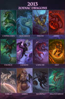 2013 Zodiac Dragons by The-SixthLeafClover
