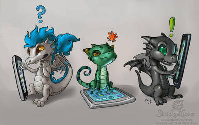 Tablet Derps by The-SixthLeafClover