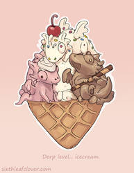 Ice Cream Cone Derps by The-SixthLeafClover