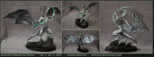 Heavens Wrath 3D Printed Sculpture by The-SixthLeafClover