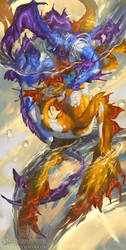 2016 Zodiac Dragons Pisces by The-SixthLeafClover