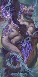 2017 Zodiac Dragons Calendar - Aquarius Dragon by The-SixthLeafClover