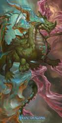 2017 Zodiac Dragons Calendar - Libra Dragon by The-SixthLeafClover